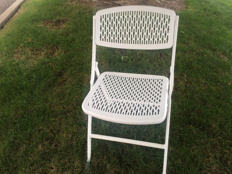 Chairs - White Folding