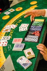 Image of Blackjack Table with Dealer