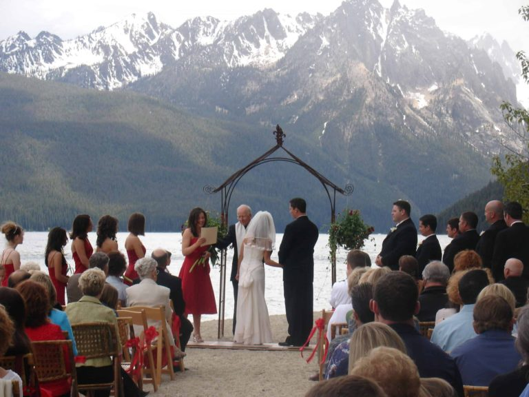 Image of Wedding Ceremony at Redfish Lake