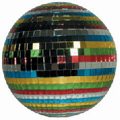 Mirror Ball Multi-Color 12in w/motor