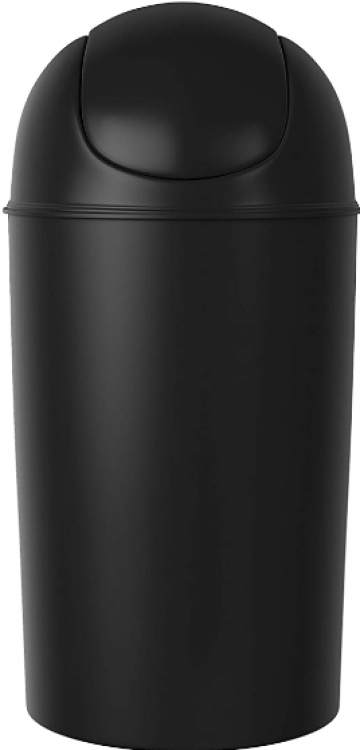 Trash Can 13 Gal. Black - Flip Top
